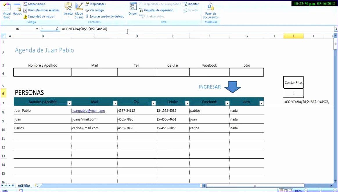 Excel Address Book Template Luxury 6 Microsoft Excel Address Book Template Exceltemplates