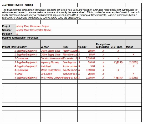 Excel Bill Tracker Inspirational 8 Invoice Tracking Templates – Free Sample Example