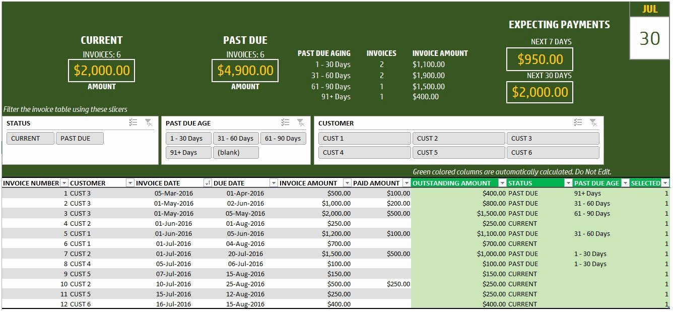 Excel Bill Tracker New Sales Invoice Tracker Excel Template