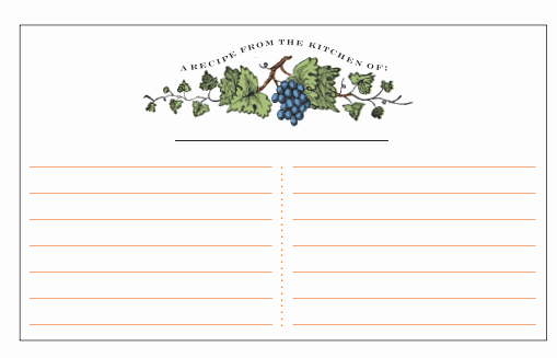 Excel Recipe Template Beautiful 21 Free Recipe Card Template Word Excel formats