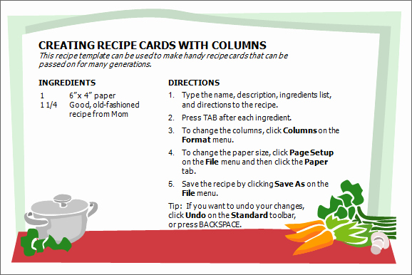 Excel Recipe Template Elegant Creative Professional Cooking Recipe Card Template