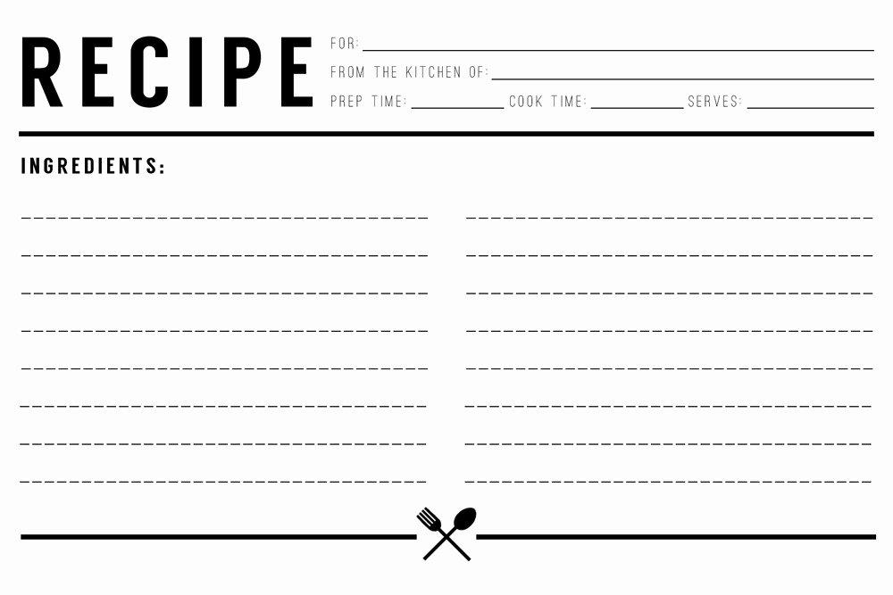 Excel Recipe Template Luxury 13 Recipe Card Templates Excel Pdf formats