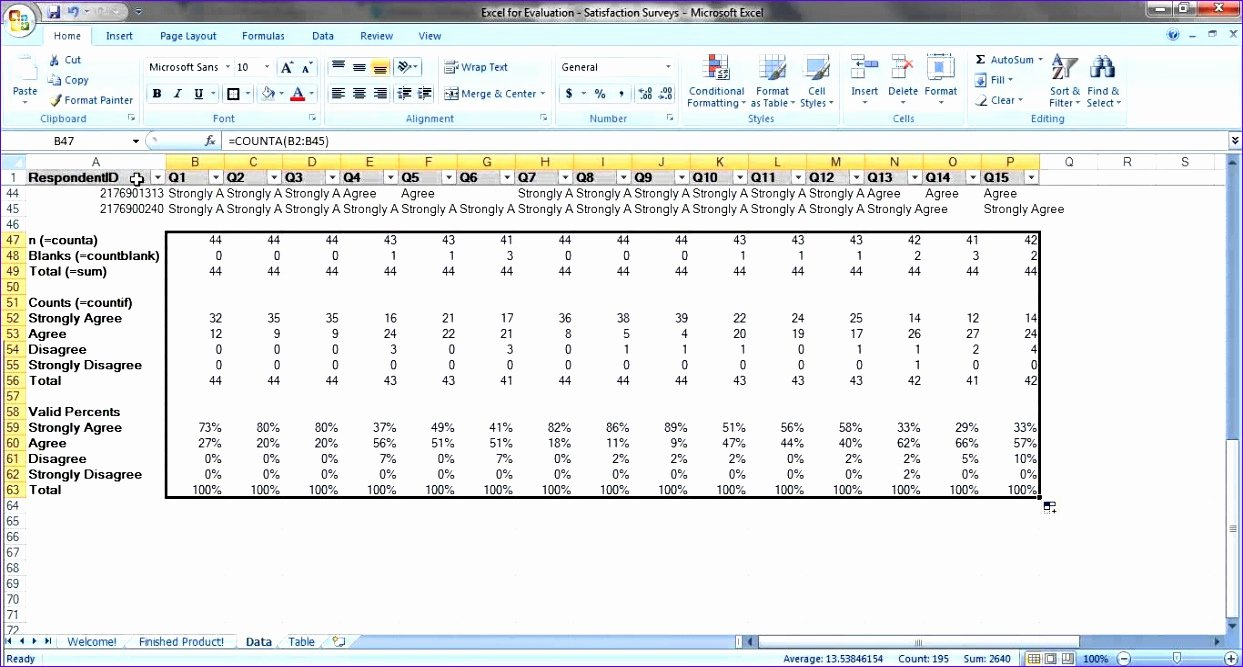 Excel Survey Results Template Elegant 10 Microsoft Excel Survey Template Exceltemplates