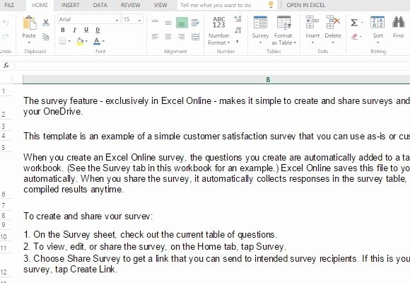 Excel Survey Results Template Lovely Customer Satisfaction Survey Template for Excel
