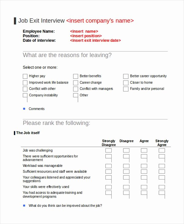 Exit Interview form Pdf Beautiful Sample Exit Interview form 10 Free Documents In Doc Pdf