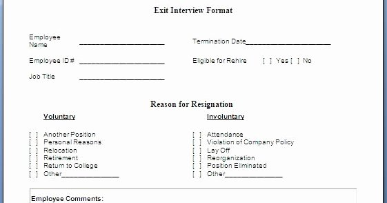 Exit Interview form Pdf Fresh Every Bit Of Life Job Exit Interview form