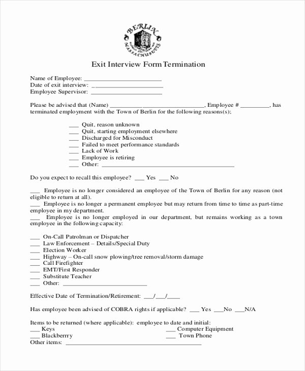 Exit Interview form Pdf Inspirational Sample Exit Interview form 10 Free Documents In Doc Pdf