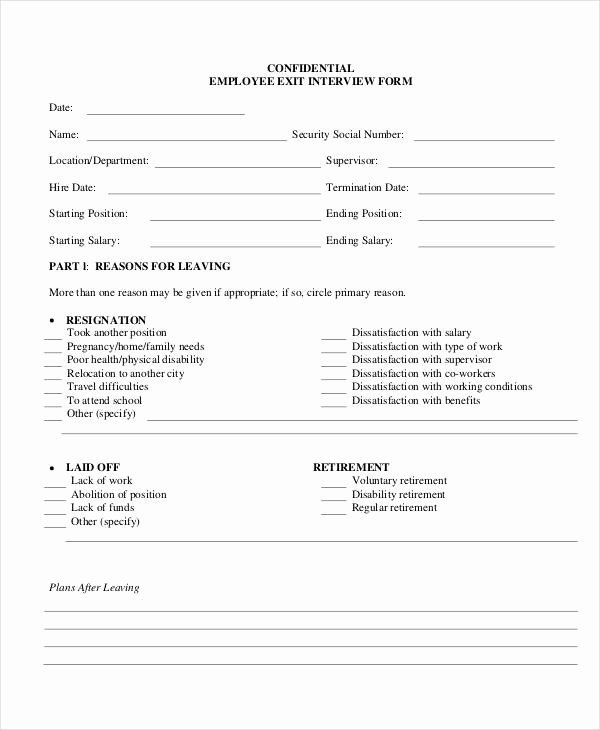 Exit Interview form Pdf Lovely Exit Interview form 9 Free Pdf Word Documents Download