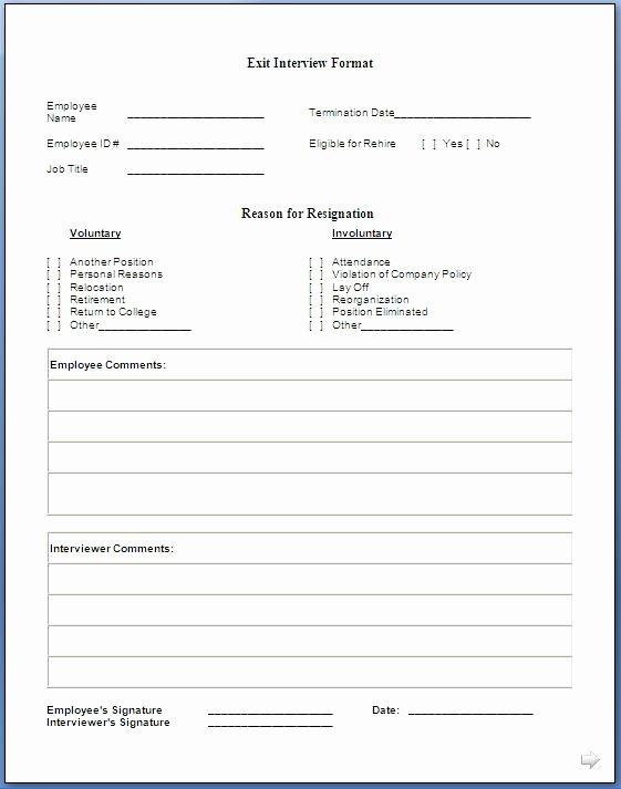 Exit Interview Questions and Answers Pdf Lovely Job Exit Interview form