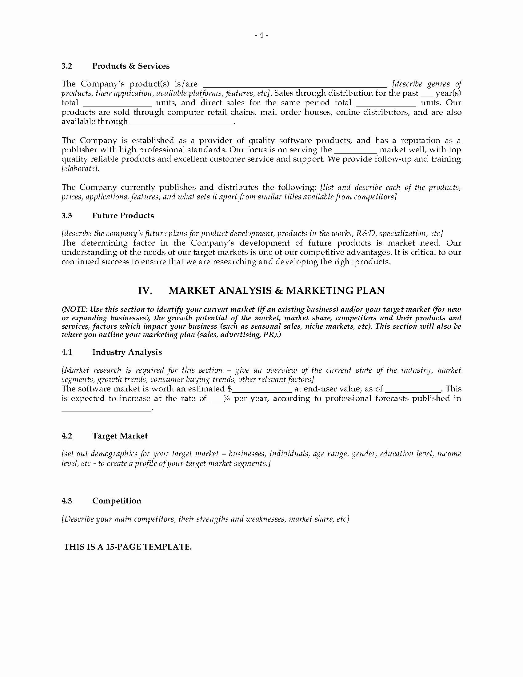 Expansion Plan Template Unique software Publisher Business Plan for Expansion