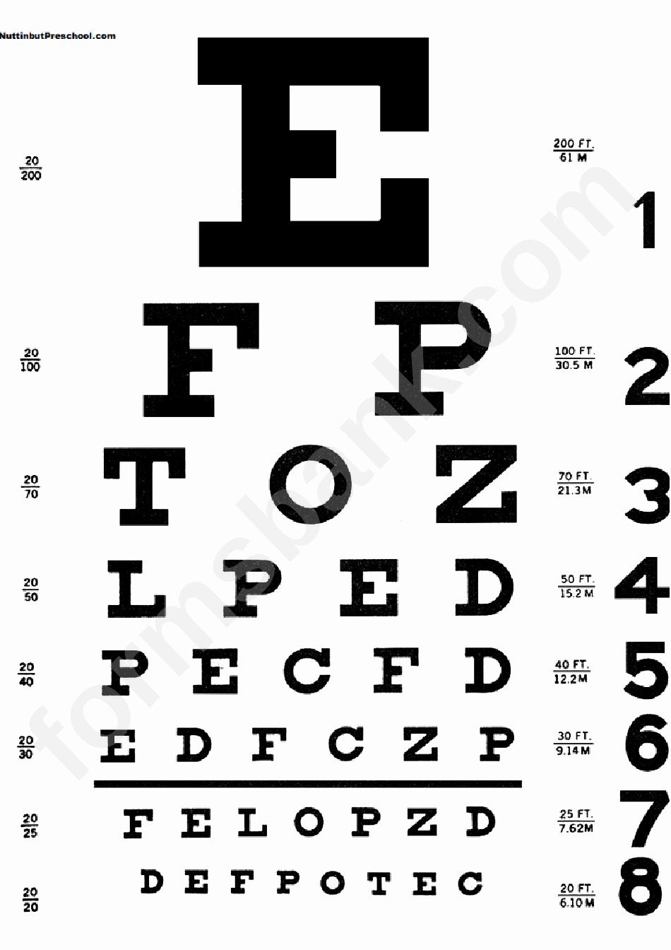 Eye Exam forms Template Beautiful Eye Chart Template Printable Pdf