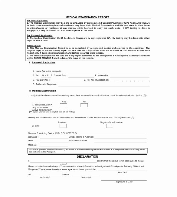 Eye Exam forms Template Luxury 9 Medical Report Templates Free Sample Example format