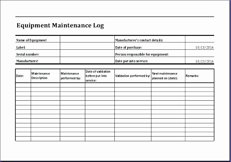 Facility Maintenance Checklist Template New Facility Maintenance Checklist Template – Ddmoon