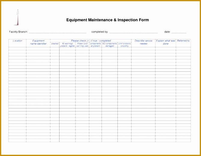 Facility Maintenance Checklist Template Unique 7 Facility Maintenance Checklist Template