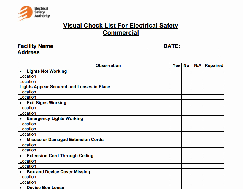 Facility Maintenance Schedule Excel Template New 4 Facility Maintenance Checklist Templates Excel Xlts
