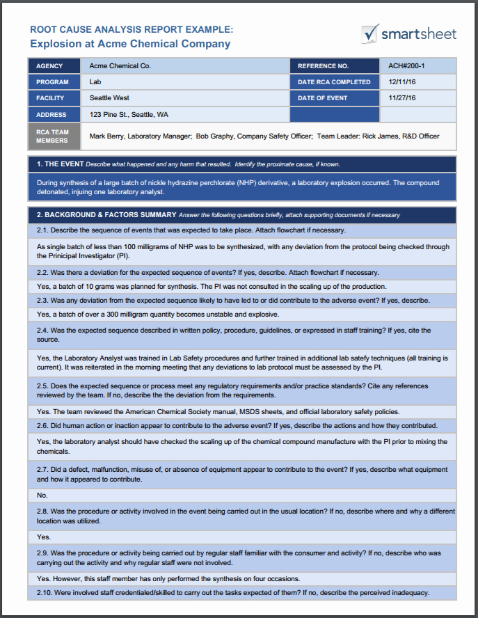 Failed Background Check Letter Template Unique Root Cause Analysis Template Collection