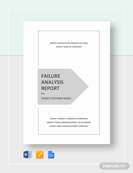 Failure Analysis Report Template Doc Fresh 9 Editable Failure Analysis Templates Pdf Word
