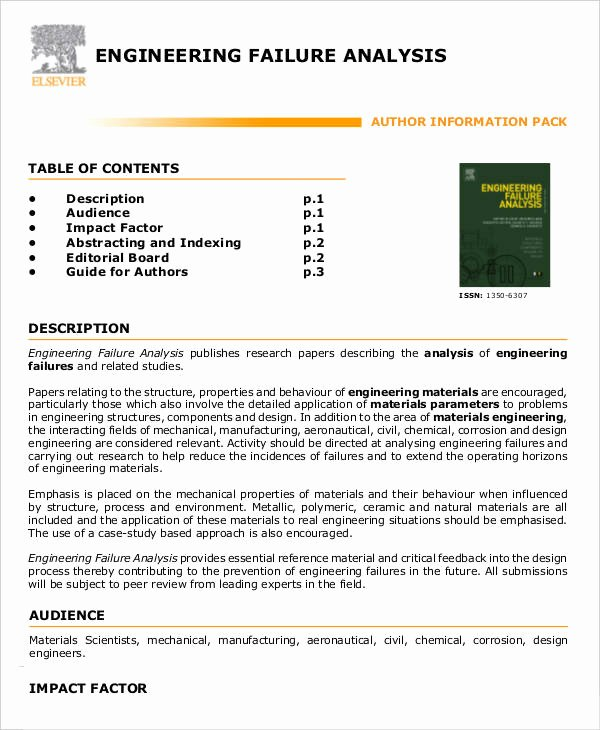 Failure Analysis Report Template Doc Luxury 9 Editable Failure Analysis Templates Pdf Word