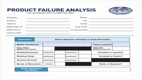 Failure Analysis Report Template Doc Unique 8 Sample Product Analysis Reports
