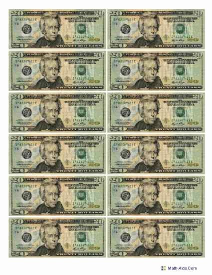 Fake 1000 Dollar Bill Printable Best Of Best S Of Printable Play Money Actual Size 1 Dollar