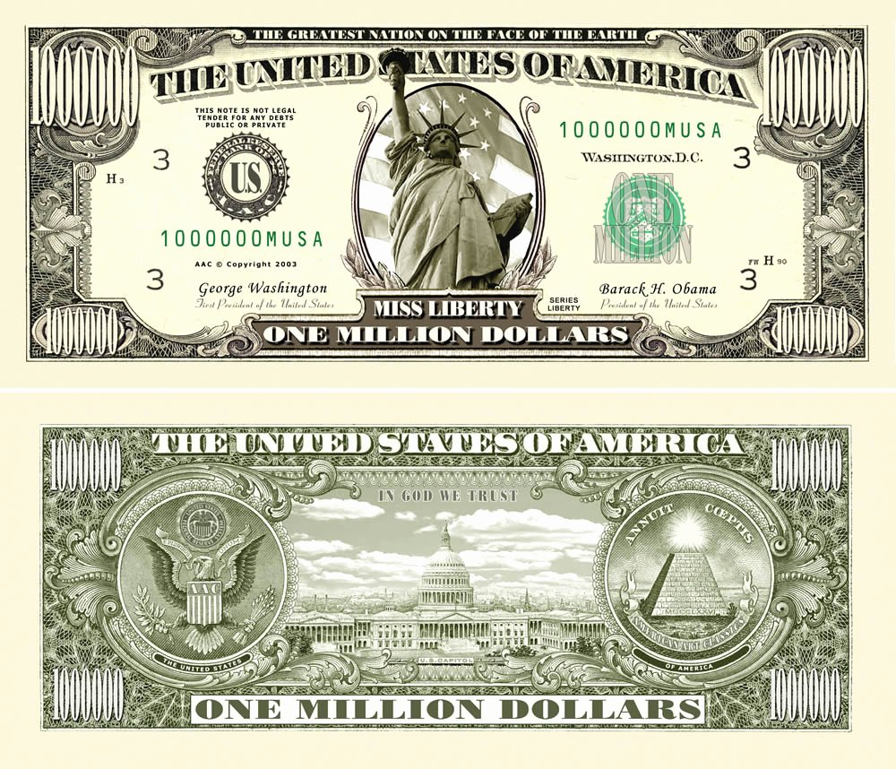 Fake 1000 Dollar Bill Printable Elegant Fakemillion Traditional E Million Dollar Bills Fakemillion