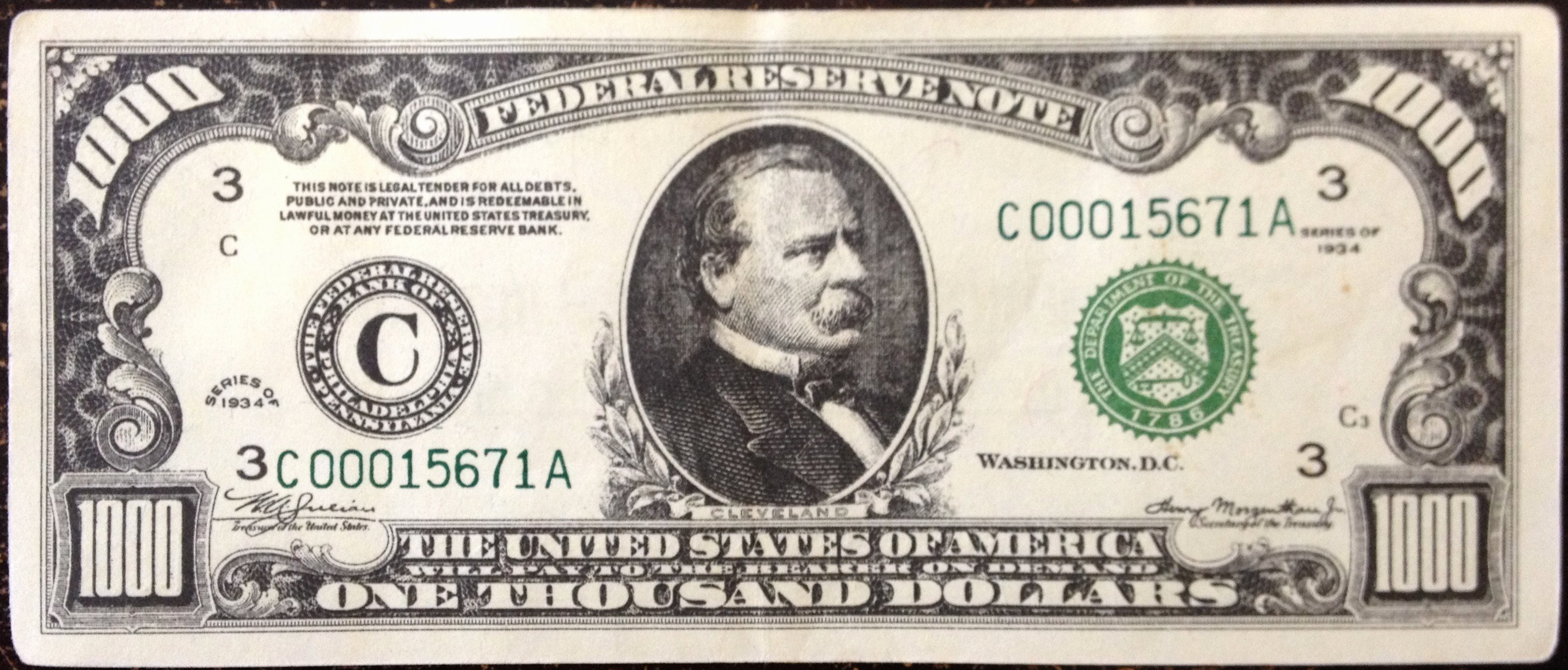 Fake 1000 Dollar Bill Printable Inspirational Kd Currency Inc $500 & $1000 Federal Reserve Notes