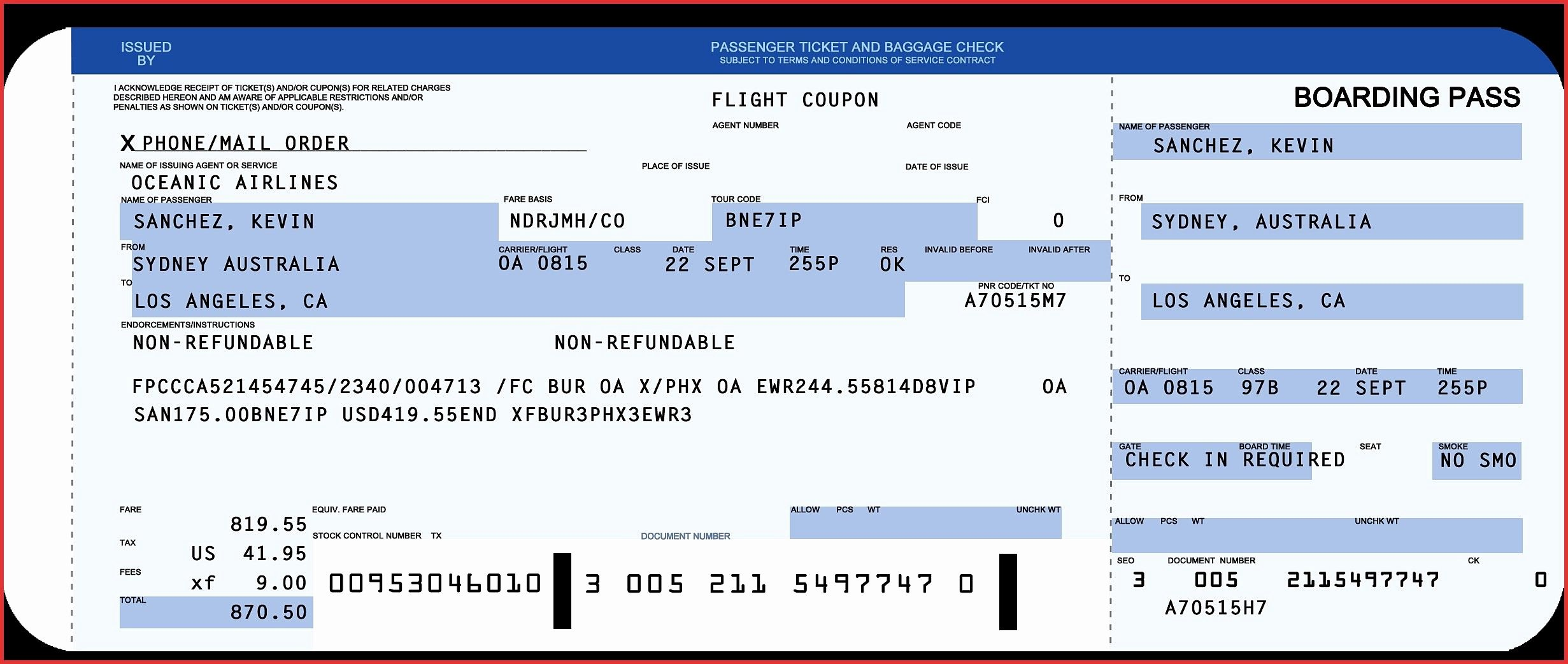 Fake Airline Ticket Generator Beautiful Plane Ticket Template Word Copy Awesome