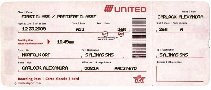 Fake Airline Ticket Generator Fresh What Information On A Plane Ticket Google Search