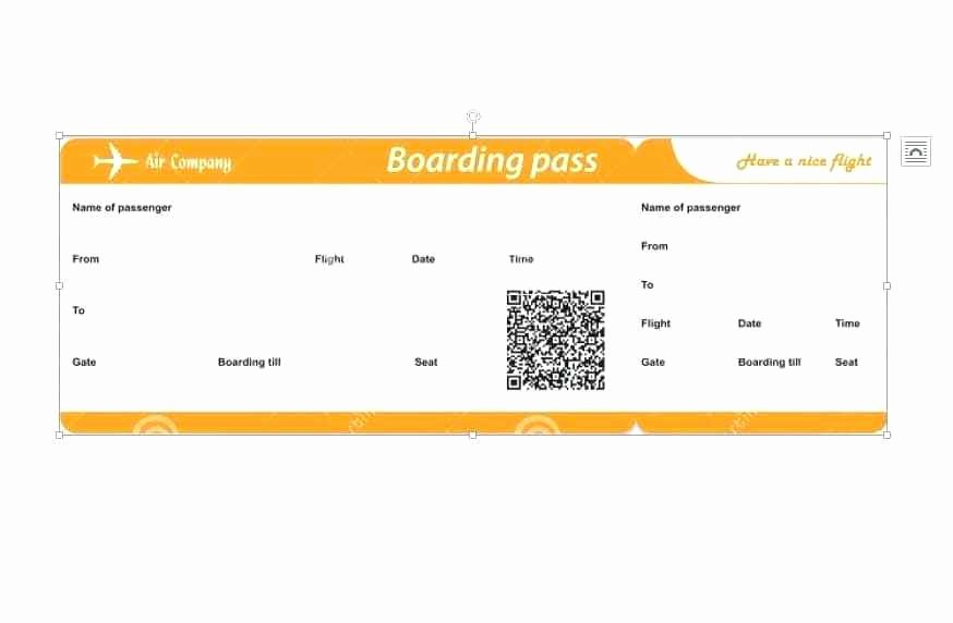Fake Airline Ticket Generator Lovely Fake Boarding Pass Template