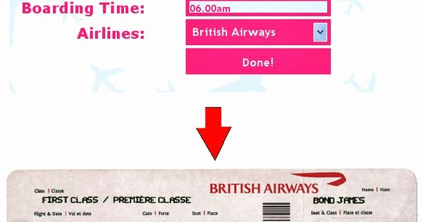 Fake Airline Ticket Generator Lovely Ticket O Matic is the Best Fake Airline Ticket Generator