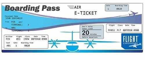 Fake Airline Ticket Template Elegant Plane Ticket Template Beepmunk