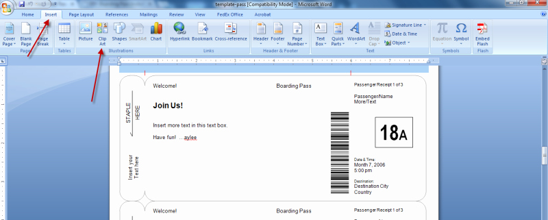 Fake Airline Ticket Template Fresh Making Fake Boarding Passes as Gifts Le Chic Geek