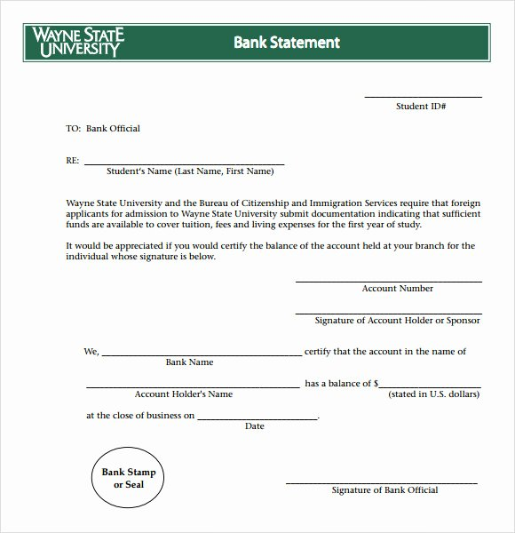Fake Bank Statement Template New Bank Statement 8 Free Samples Examples format