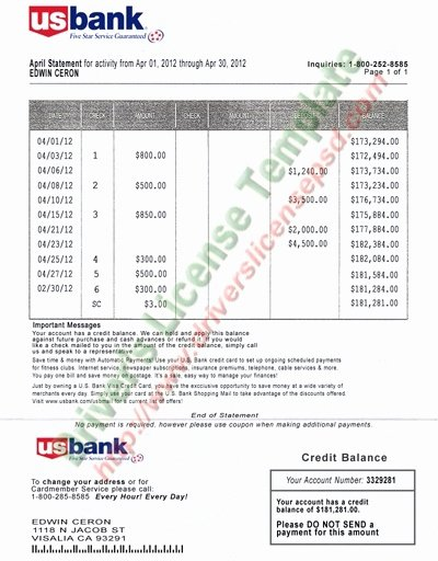 Fake Bank Statements Templates Download Lovely Can I Print Bank Statements From My Bank for My Visa