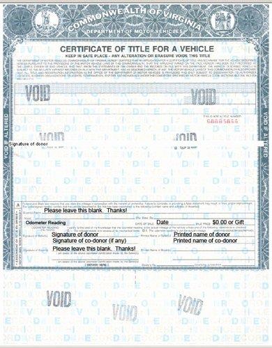 Fake Car Title Templates Elegant Virginia Title Processing Information