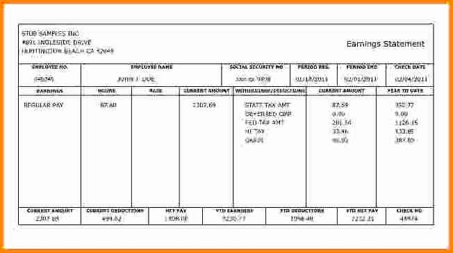 Fake Check Template Lovely 8 Fake Paycheck Stubs Templates