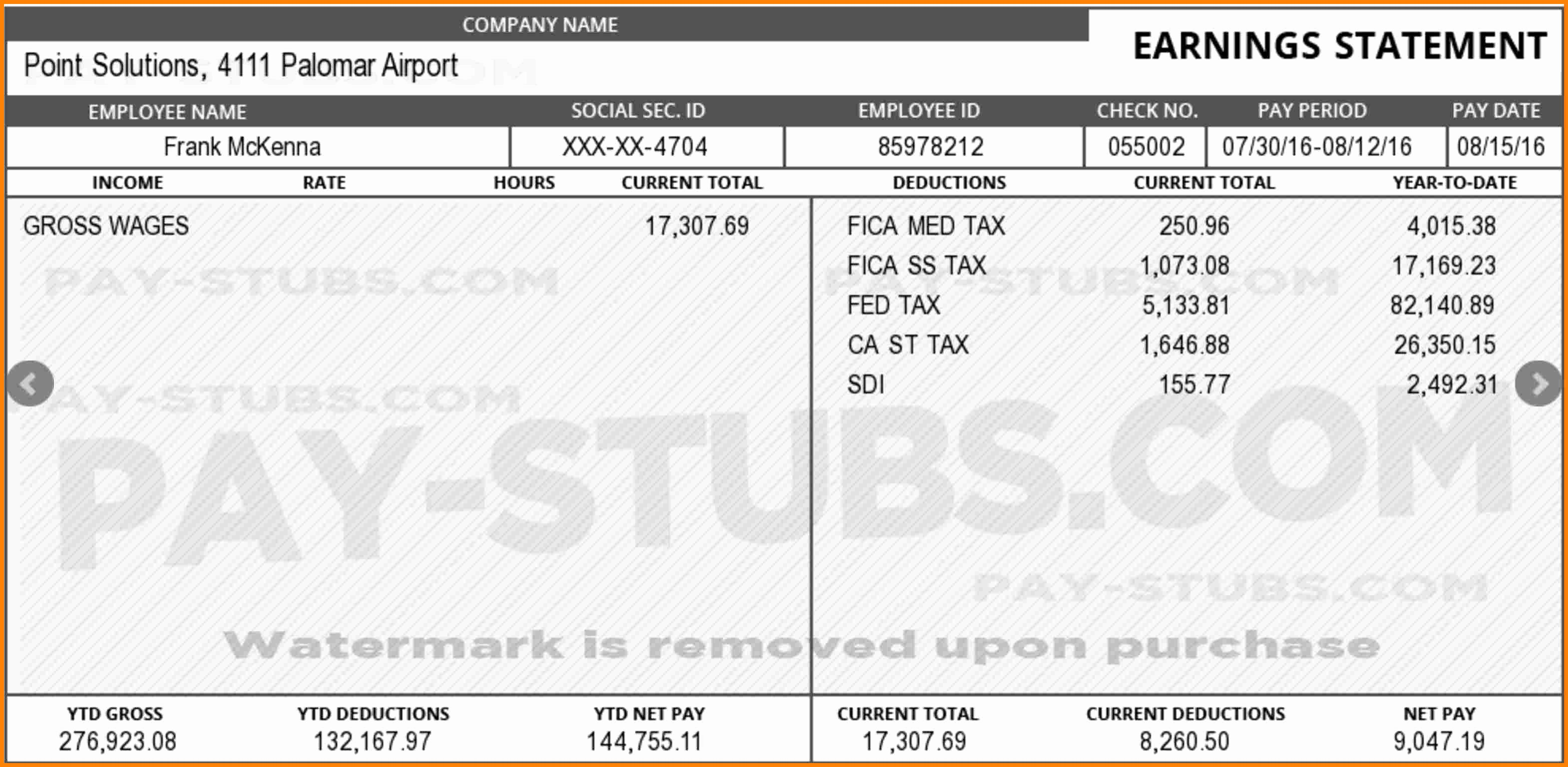 Fake Check Template Luxury 11 Fake Paycheck Maker