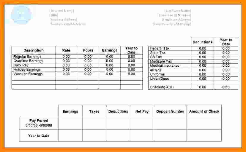 Fake Check Template Microsoft Word Inspirational 8 Payroll Check Template Free