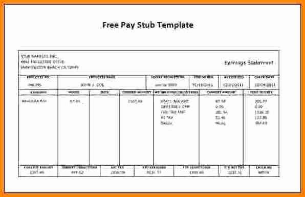 Fake Check Template Microsoft Word Unique 11 Free Fake Paycheck Stubs Templates