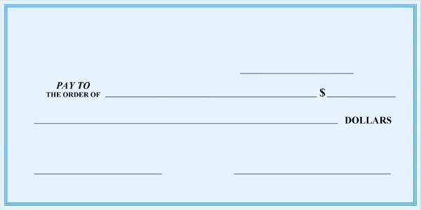 Fake Check Template New Blank Check Template