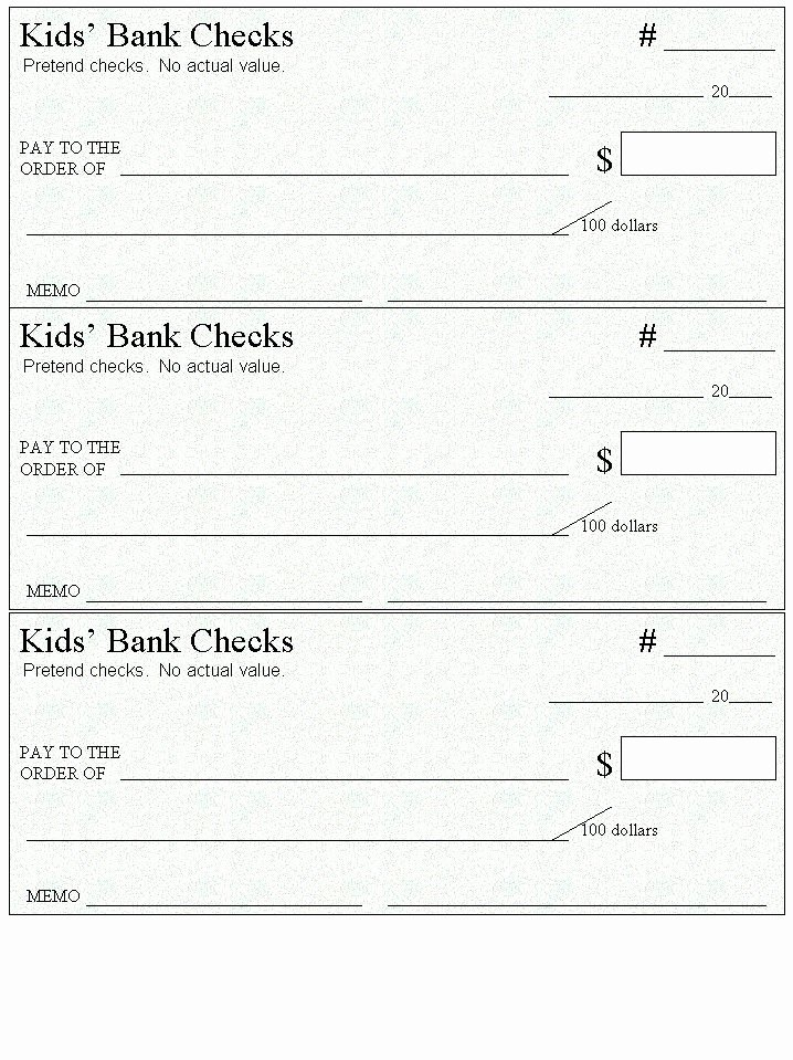 Fake Check Template Word Awesome Here S A Page Of Blank Checks to Use for Money and