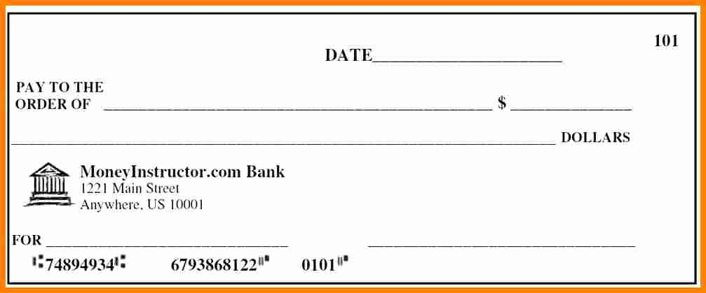 Fake Check Template Word Fresh 5 Fake Payroll Check Template