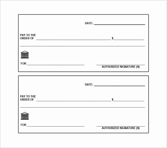 Fake Check Template Word New Blank Check Template – 30 Free Word Psd Pdf & Vector
