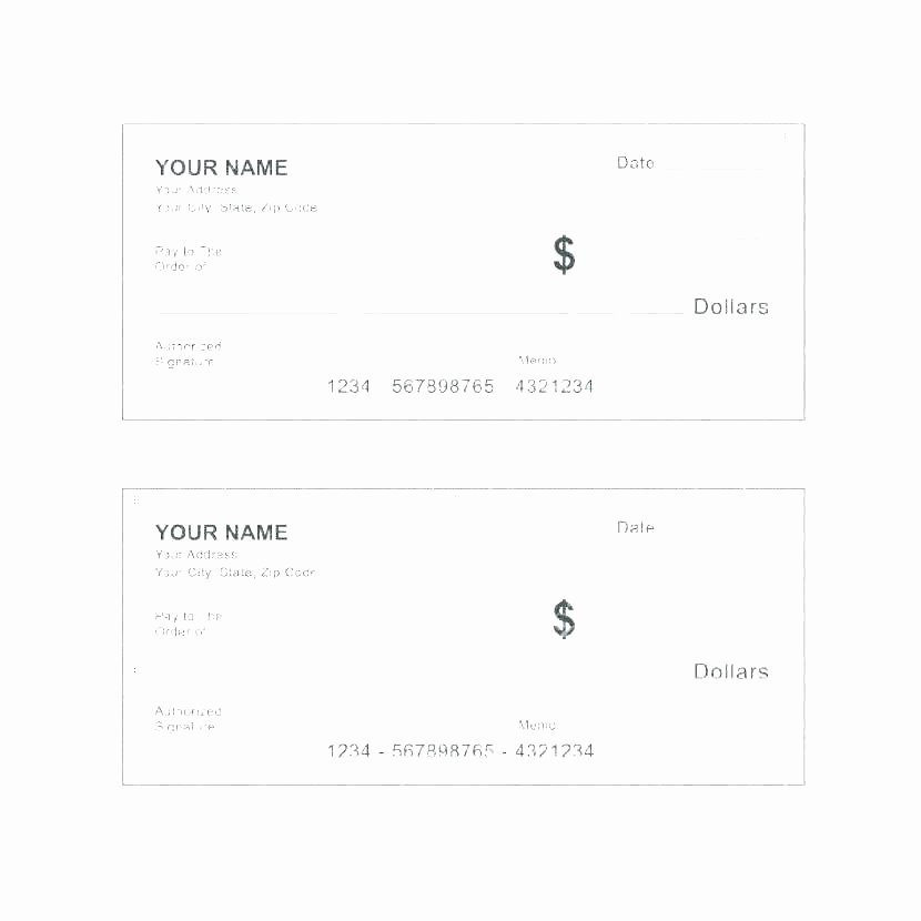 Fake Check Template Word Unique Print Your Own Checks Letter Universe