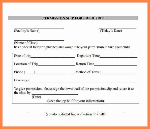 Fake Field Trip form Best Of 6 Field Trip Permission Slip