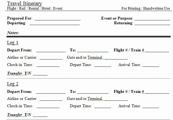 Fake Flight Itinerary Template Awesome 30 Itinerary Templates Travel Vacation Trip Flight