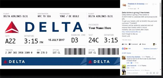 Fake Flight Itinerary Template Best Of Watch Out for Live Fake Giveaway Scams