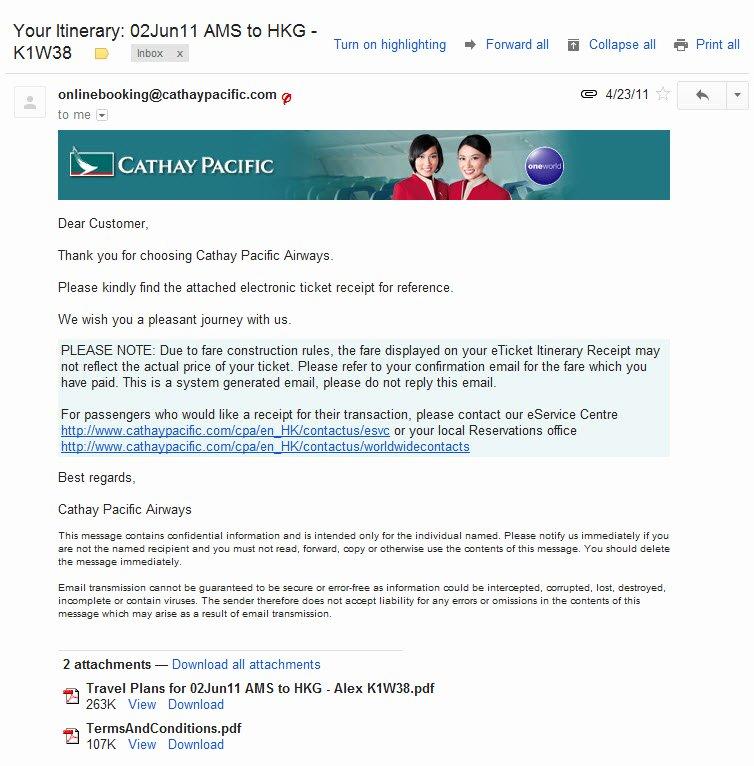 Fake Flight Itinerary Template New Alex Baar International Digital Marketing Example
