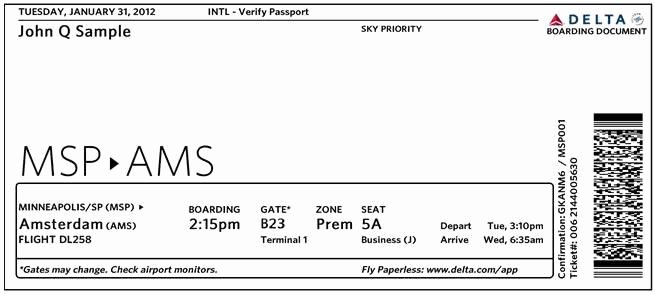 Fake Flight Itinerary Template New New Design Unveiled for Delta Air Lines Boarding Passes