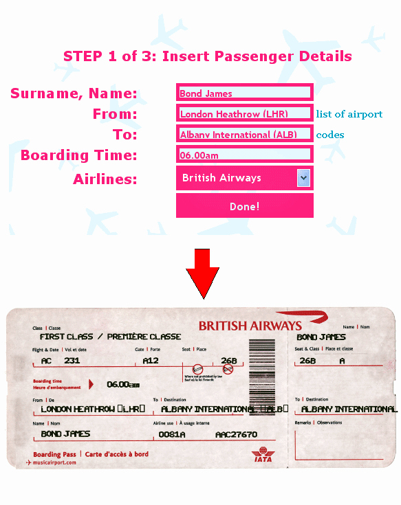 Fake Flight Itinerary Template Unique Ticket O Matic Fake Airline Ticket Generator